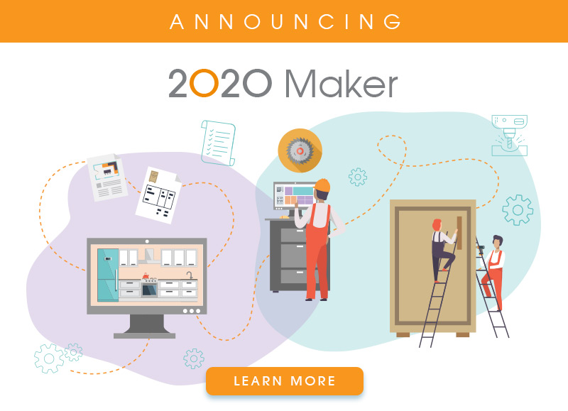 2020 Maker custom cabinet design and manufacturing software