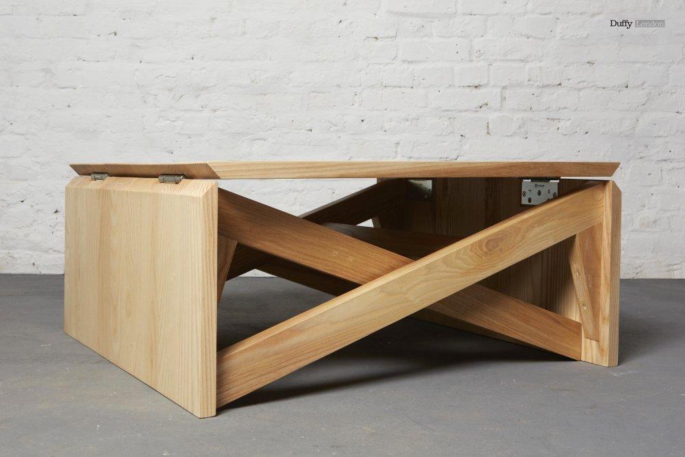 Mini Oak Coffee Table Flips Into Full Sized Woodworking Network